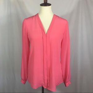 Banana Republic | Pink Silk Blouse Long Sleeve